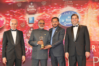 Usman receiving the BID Quality award in Paris