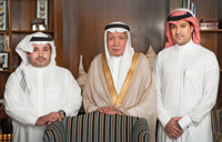 CCO Abdulaziz Sherbiny, chairman and CEO Mohammed Sherbiny (centre) and COO Majed Sherbiny