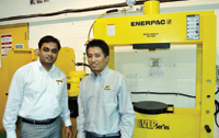 Anshul Tyagi, Enerpac area sales manager (left) and Larry Guevara, product manager