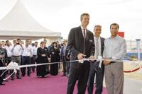 Kingsley (left) inaugurates Pall's new office in Al Khobar