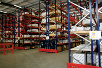 The new logistics centre with vastly increased product storage capacity