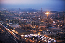 A view of the gigantic Jubail Industrial City