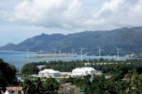 Masdar's wind farm in the Seychelles