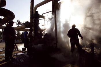 Iran's oil production has taken a hit