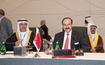Dr Mirza and Noga general secretary Dr Ahmed Al Sharyan at an OAPEC meet.