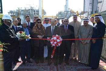 Dr Mirza inaugurating the ninth gas compressor station at Banagas