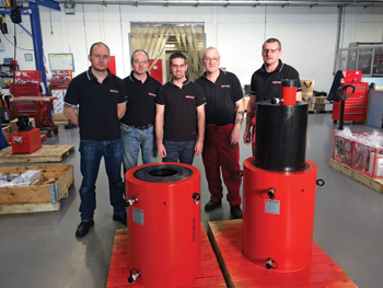 The Hi-Force manufacturing team: (from left to right); Varney, East, Watts, Birch and Cawton
