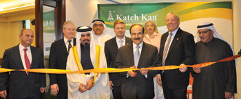 Dr Mirza and other officials at the inauguration of Katch Kan's office.