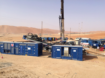 Auger's 500 tonne rig working in Shaybah