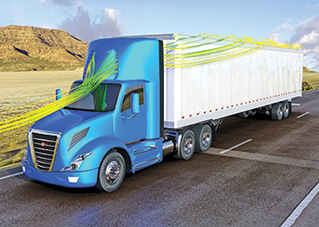 Heavy duty trucks are being made more aerodynamic