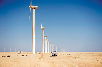 A wind energy farm in Egypt