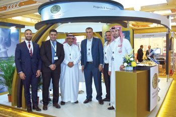 The Tamimi team at the Manufacturing Conference and Exhibition for Oil and Gas (MAF 2016)in Dubai