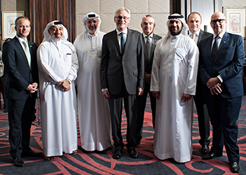 Dr Rudolph (left) at the opening ceremony of the new branch office in Abu Dhabi