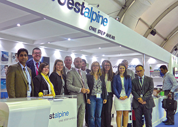 The voestalpine Böhler team at a previous edition of Adipec
