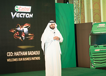 Badaoui ... launching Castrol's Vecton