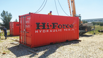 Hi-Force's onsite containers include appropriate tool storage facilities