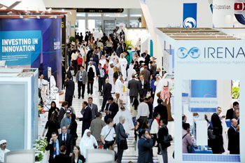 A view of the WFES exhibition