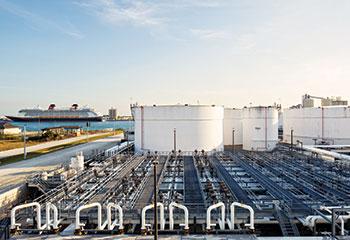 Vitol oil distribution centre in Cape Canaveral, Florida