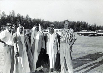 Founders of Rabiah & Nassar Group with others in Dhahran 1956