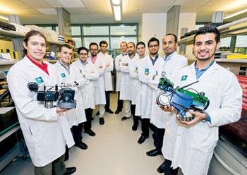 Saudi Aramco's officials present inspection robot Sair