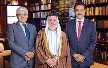 GG partners (left to right) Nayan Shah, Ishaq Al Kooheji and Manoj Ajmera