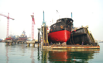 Vessels of various sizes are catered for at Basrec