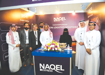 NAQEL presenting logistics solutions for the aviation sector during an Air Show in Riyadh