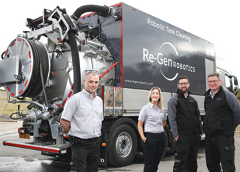 Duffy with Re-Gen Robotics operations team