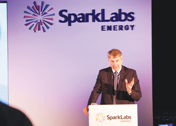 A speaker at Sparklab's Energy day