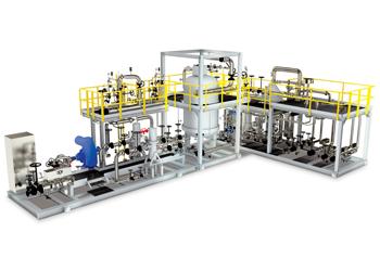 A crude oil block unit