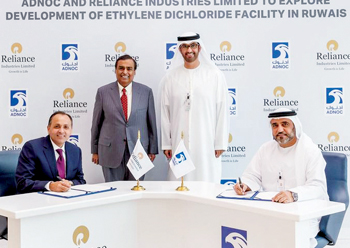 Adnoc and RIL ink pact to develop an ethylene dichloride facility in Ruwais