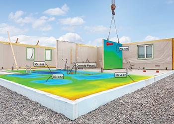 Floor flatness visualisation