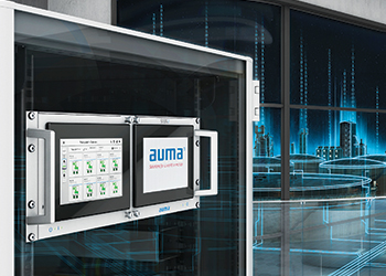The SIMA² Master Station can supervise and control large numbers of valve actuators