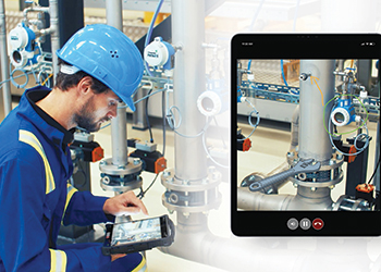 Endress+Hauser's supports customers with the help of live video transmission and screen casting