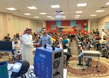 A demo at the University of Bahrain's Engineering College
