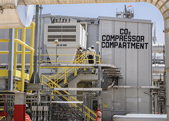 The Hawiyah Gas Plant captures 30 million standard cubic feet of CO2 every day